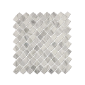 Off-white stone pattern glass mosaic tiles
