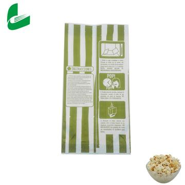 Produce factory price greaseproof green popcorn paper bag