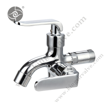 Chrome plated and polished faucet
