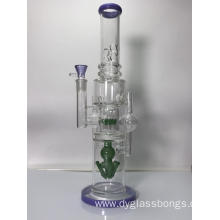 "Huge 20"" Glass Bongs with Birdcage Filters"