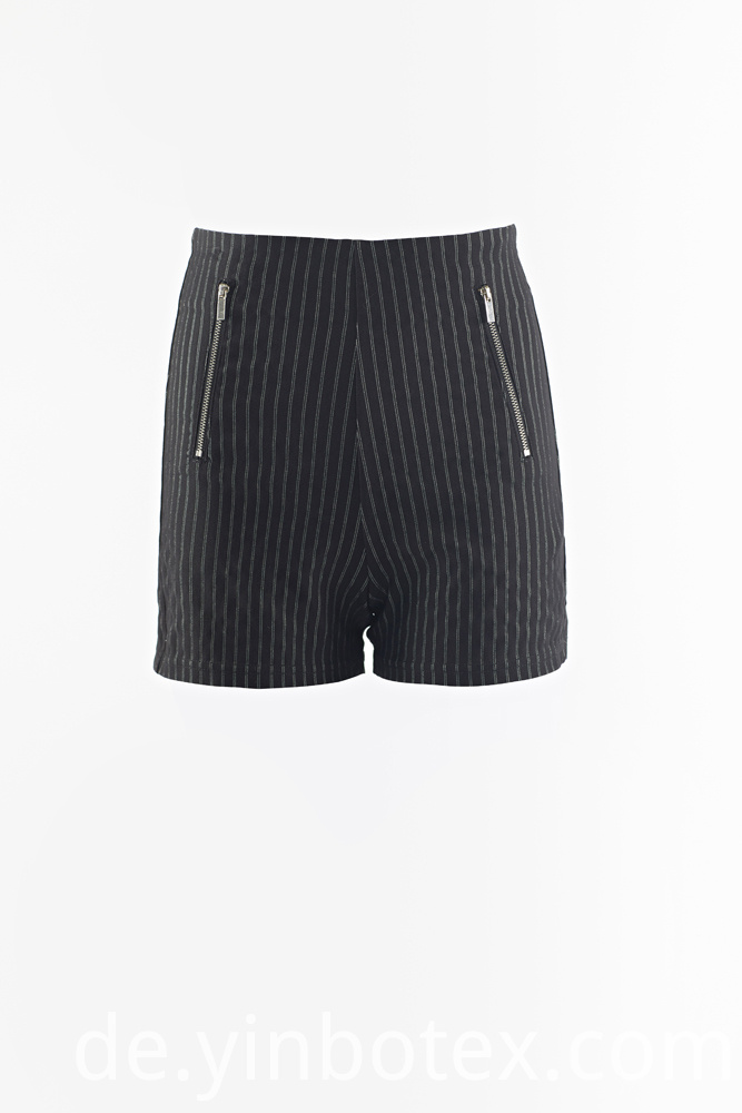 woven stripes short