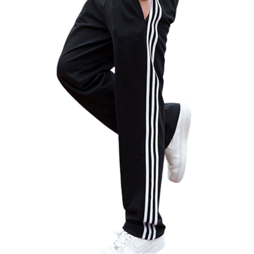 Mens Custom Side Stripe Baggy Cotton Sports Pants