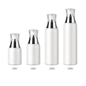 Acrylic white vacuum bottle pump bottle