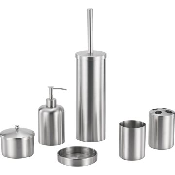Cylinder Stainless Steel Bathroom Accessory Set