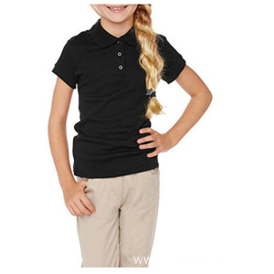 Kids School Uniform Design Short Sleeve Polo Shirt