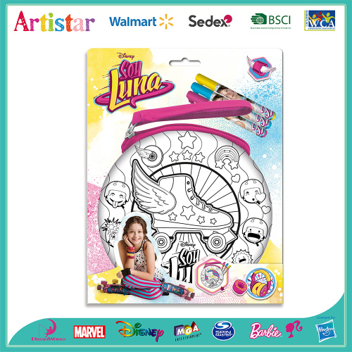 DISNEY SOY LUNA colouring your own bag