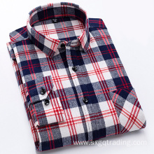 Fashion 100% cotton flannel shirt in winter
