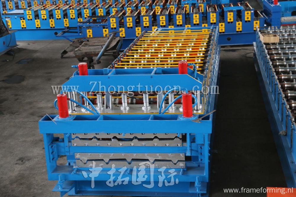 Cold Double Layer Corrugated Roofing Sheet Machine