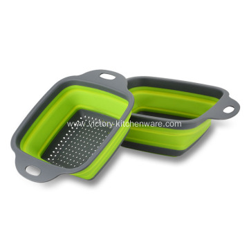 Square Shape Collapsible Kitchen Strainer