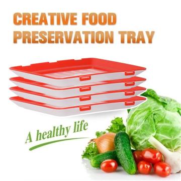Creative Refrigerator Storage Creative Food Preservation Tray Food Fresh Keep Fresh Spacer Organizer Food Preservate For Kitchen