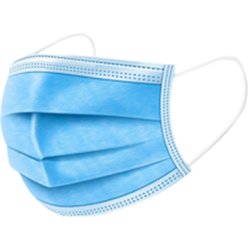 Disposable 3-Ply Non-Woven Face Mask