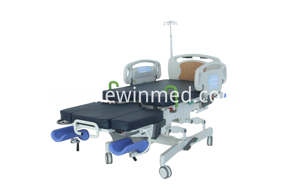 Examination and delivery bed