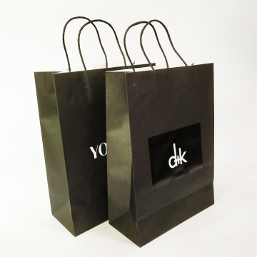 Custom Jewelry Packaging Kraft Shopping Paper Bag
