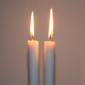 White Color Flameless Wax Candle