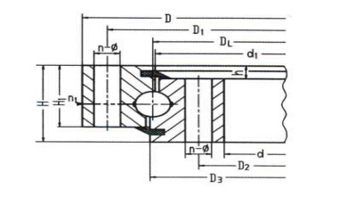 Contact Ball Type Slewing Bearing /Non-gear