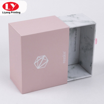 Pink small gift jewelry box with logo
