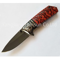 Wood Handle Assisted Fast Opening Folding Pocket Knife