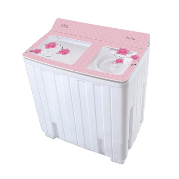 Pink Transparent Glass Cover 12KG Twin Tub Washing Machine