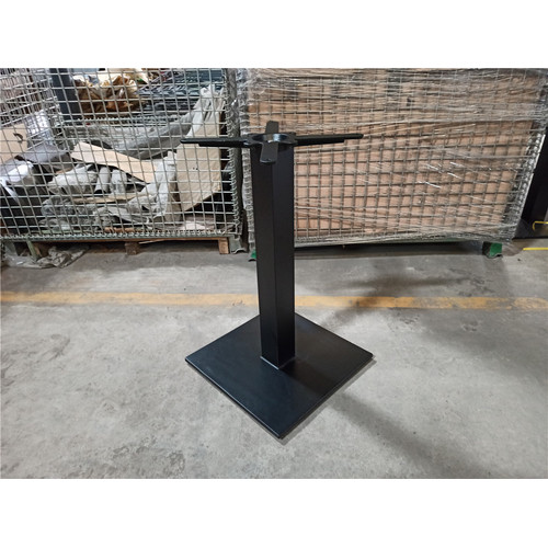 Matt black Indoor and outdoor table base metal
