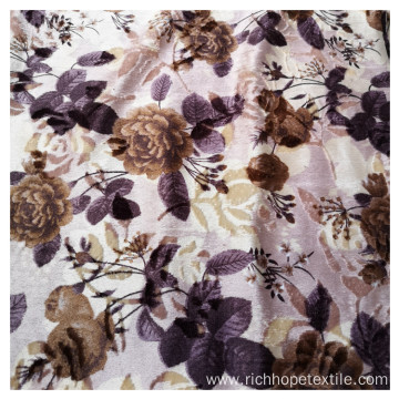 100% Polyester Cheap Printed Velvet For Sofa Fabric
