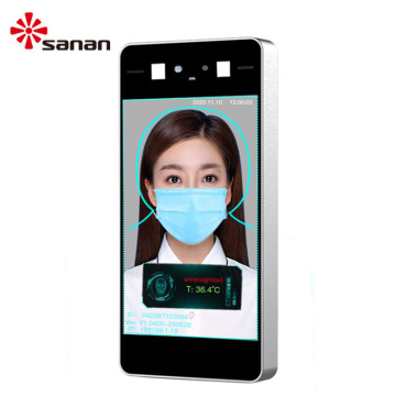 8 Inch LCD Screen Contactless Face Recognition Thermometer
