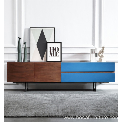 Wooden tv cabinet lacquered