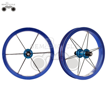 Blue 6061 alloy rim 12H 12inch wheel set
