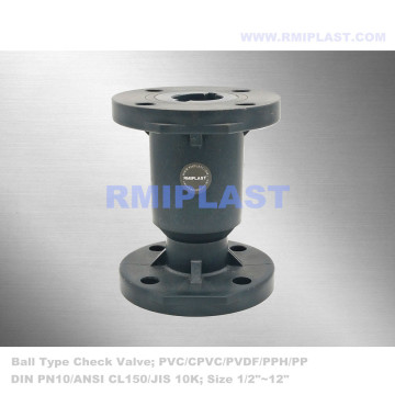 CPVC Ball Check Valve Flange End DIN PN10