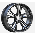 22X9 22X10.5 5x130 Wheel Gunmetal Machined Face