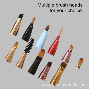 Double lip brushes retractable makeup lip brushes