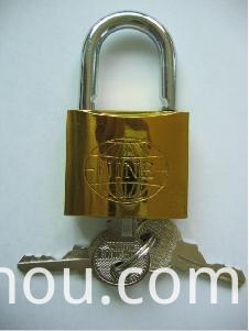 Golden Iron Padlock