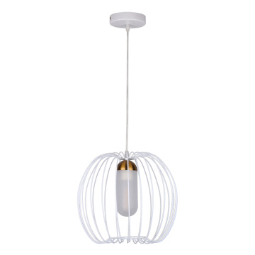 Modern Iron Black and white Birdcage Pendant Light