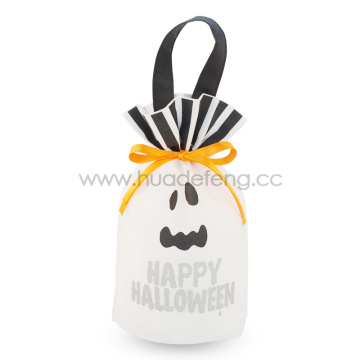 Halloween Non-Woven Gift Drawstring Bag For Packing Candy