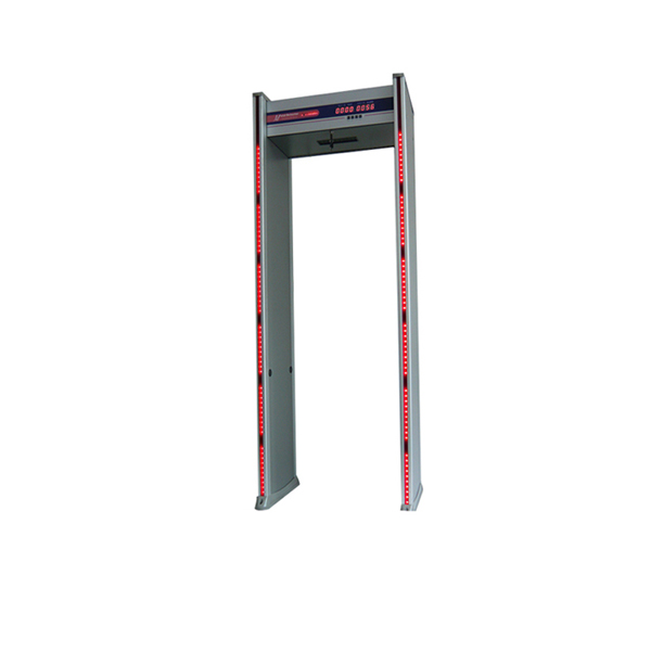 6 zone portable walk through metal detector