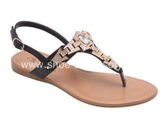 2014 New Rhinestone Chain Sandal for Lady, Popular T-Shaped Flip Flop Sandal Chain