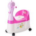 Duck Shape Plastic Infant Potty Chair With Wheel