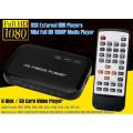 Mini Full HD 1080P USB External HDD Player With SD MMC U Disk Support MKV AVI HDMI Media Video Player IR Remote Blu-ray Player
