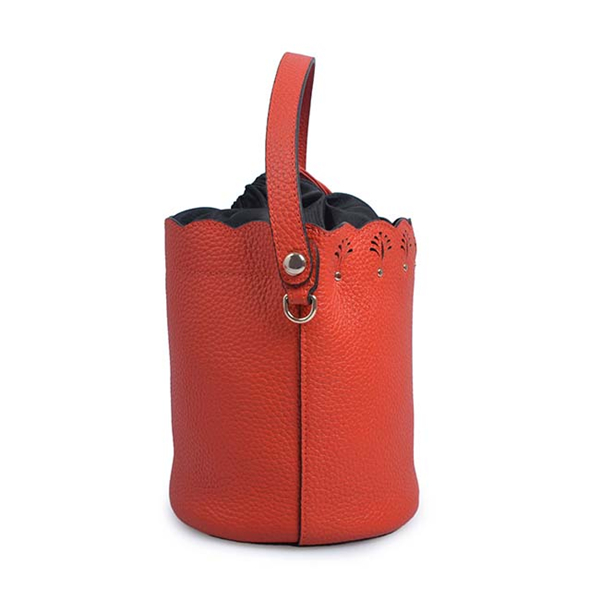 Bucket Bag High Leather Handbag