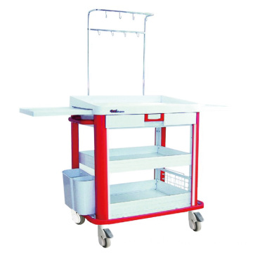 Hospital ABS Customized Drawer Size I.V. Trolley