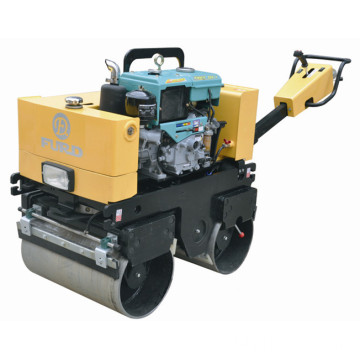 Water-cooled Diesel Engine Manual Double Drum Soil Compactor Road Roller Used For Asphalt FYL-800CS