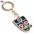 Metal Custom Enamel Bag On Keychain