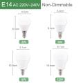 Kaguyahime LED E27 LED Light E14 LED Bulb AC 220V 240V 20W 15W 12W 9W 6W 3W LED Spotlight Table Lamp Bombilla Lighting Lampada