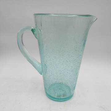 hand made bubble glass pitcher glass tumbler set