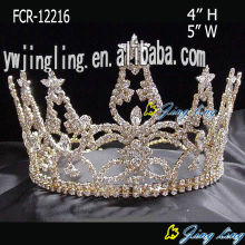 Rhinestone Beauty Queen Full Round Pageant Crowns