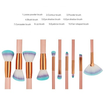 Orange Foundation und Lidschatten Make-up Pinsel Set