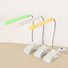 1Pcs Adjustable USB LED Reading Light Rechargeable Clip-on Clamp Bed Table Desk Lamp Bendable Eye Protect Reading Desk Lamp