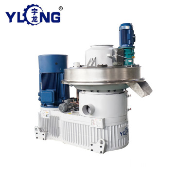 YULONG XGJ560 1.5-2TON/H biomass palm fiber pellet machine