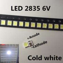 100pz/lotto Jufei 3528 SMD LED 2835 6 V bianco Freddo 96LM Per La TV LCD Retroilluminazione Applicazione