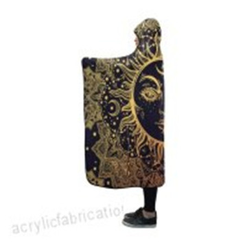 Cobertor Indoor Pilling Fleece Paisley Com Capuz Sol