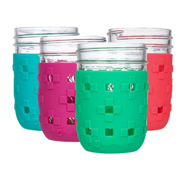 Protective Flexible Silicone Mason Jar Sleeve